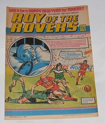 Roy Of The Rovers Comic 2Nd January 1982 Ian Redford Of Glasgow Rangers