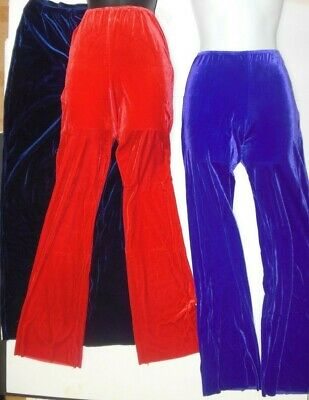 NWT VELVET LYCRA Bootcut Jazz Pants Dance Drill Show Costume Many Color ch/adult