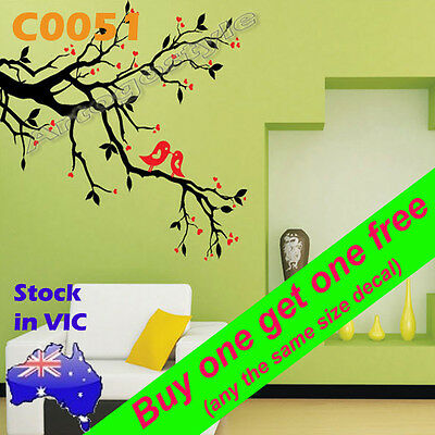 Wall Decal Sticker paper poster home office room ceiling decor Bird twig C0051