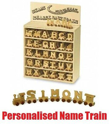 Wooden Alphabet Name Train Letters Personalised Names Baby Christening Gift