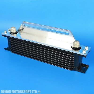 9 Row Oil Cooler And Top Alloy Mounting Bracket For Motorsport Streetfighter New