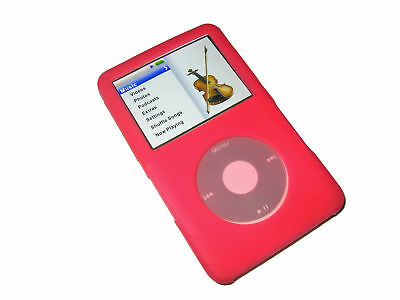 Pink Silicone Skin Case for Apple iPod Classic 80gb 120gb 160gb Cover Holder