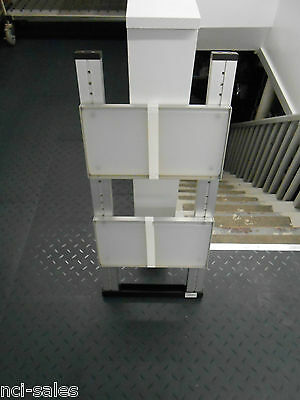 "One Gilson System Workcenter Side Support & Two 7-5/8"" X 13-3/4"" Shelves"