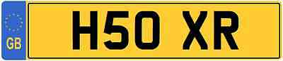 XR INITIALS  Private CHERISHED Registration Number Plate OXR XR3I XR2I XR4X4 XR2