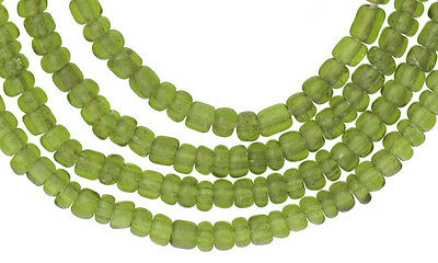 OLD MATCHING TINY SIZE green translucent VENETIAN SEED GLASS BEADS AFRICAN TRADE