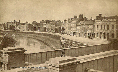 WISBECH ( Cambridgeshire) :North Brink -PHOTOCHROM