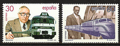 Spain  Edifil # 3347/3348 ** MNH Set  Trenes / trains / Talgo