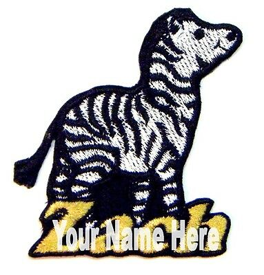 Iron-on Zebra Patch With Name Personalized Free
