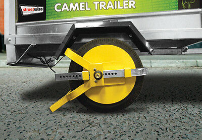 "Trailer, Caravan & Motor home 8"" - 10"" Security Anti Theft Wheel Tyre Lock Clamp"