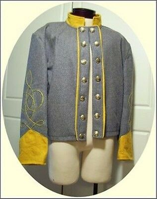 Civil War Confederate Cavalry Officers Shell Jacket
