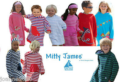 a7f17f57bfb39 Kids Girls Boys Designer Mitty James Long Hooded Beach Towelling Robe Towel  Top