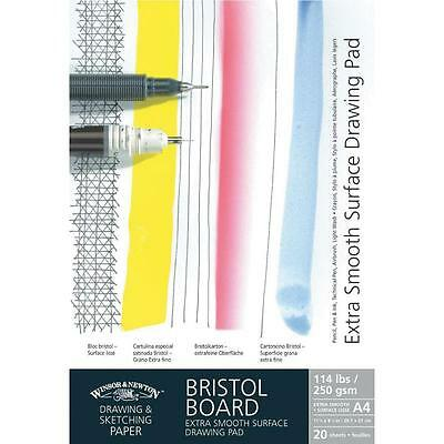 Winsor & Newton Artists Bristol Board Smooth White Card Pad 250g A4
