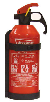 Car, Home, Office & Caravan Safety 1kg Dry Powder Fire Extinguisher with Bracket
