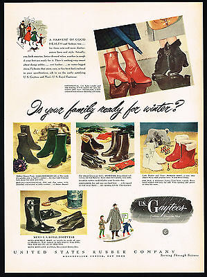 1948 United States Rubber U.S Gaytees Assorted Boots Footwear Print Ad
