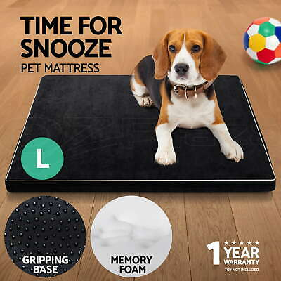 Pet Bed Deluxe Mattress Memory Foam Dog Cat Soft Pad Removable Mat Cushion Large