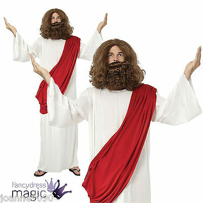 Mens Adult Religious Jesus Moses God Toga Christmas Fancy Dress Costume Outfit