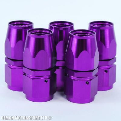 10An -10 (An10) Straight Purple Braided Hose Fitting (5 Pack)