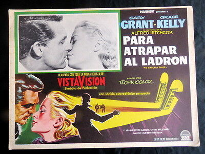 To Catch A Thief Grace Kelly Gary Grant Alfred Hitchcock N Mint Lobby Card 1955