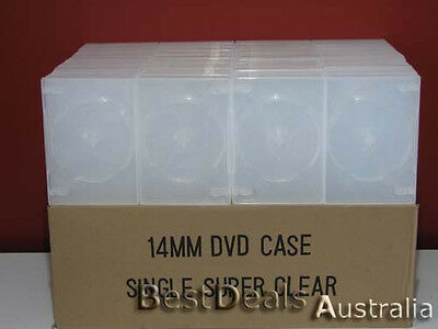 Brand New 100 Super Clear Single 14Mm Dvd Cover Cases