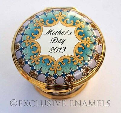 Halcyon Days Enamels Mother's Day 2013 New In Box Enamel Box