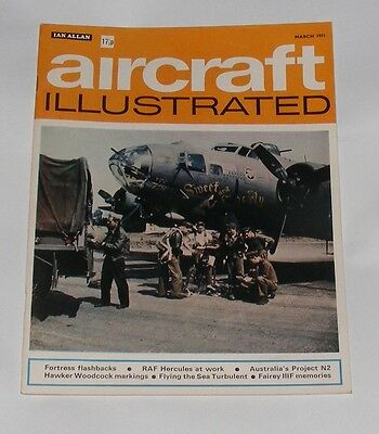 Aircraft Illustrated March 1971 - Raf Hercules At Work/fortress Flashbacks