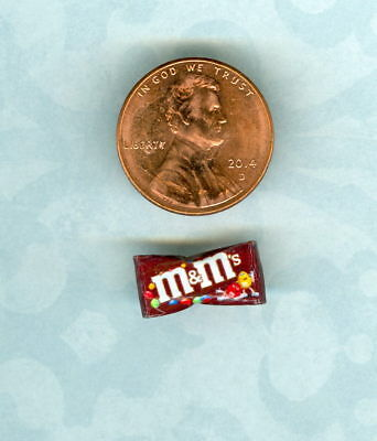 SMALLER 1/2 Half Inch Scale   Dollhouse Miniature  Scale Chocolate Candy BAG