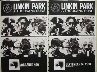 LINKIN PARK 2010 THOUSAND SUNS 2 sided promotional poster ~NEW & MINT~!