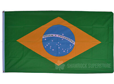 BRAZIL FLAG - NEW 5 x 3 FT - BRAZILIAN - LARGE - GREAT QUALITY - FAST POST