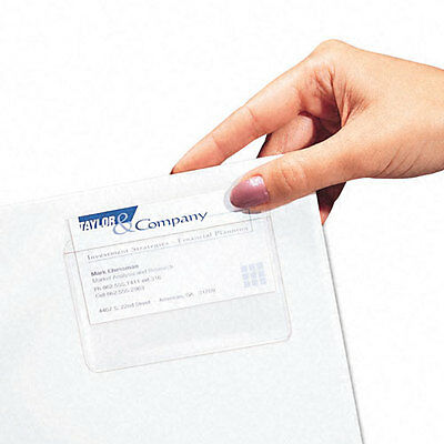 New C-Line Top Load Self-Adhesive Business Card Holders - 10pk - Free Shipping