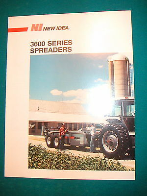 NEW IDEA 3600 Series  PTO Driven Manure Spreaders Lineup Pretty Color Brochure
