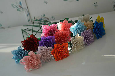 NEW Handmade French beaded flower large rose YOU PICK COLOR
