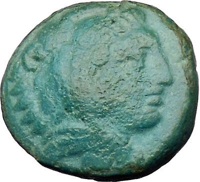 Alexander III the Great 336BC  Ancient Greek Coin Hercules Bow Club  i29614