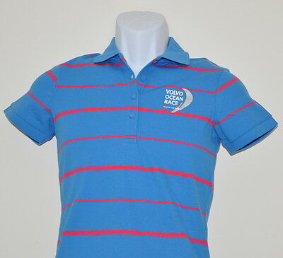 Puma Women's Volvo Ocean Race Polo Shirt  French Blue/Red. .MSRP $50.00. SALE