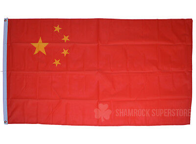 China Flag - 5 x 3 FT - 100% Polyester - National Country Chinese Communist Asia