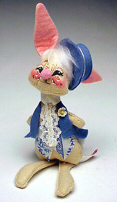 Annalee Vintage 1976 Mobility Figure, Easter Parade Boy Bunny With Easter Hat