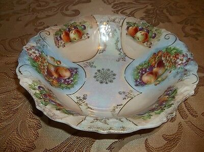 "Antique Bavarian: Porcelain 3"" x 11"" BOWL FRUIT MOTIF  130104011"