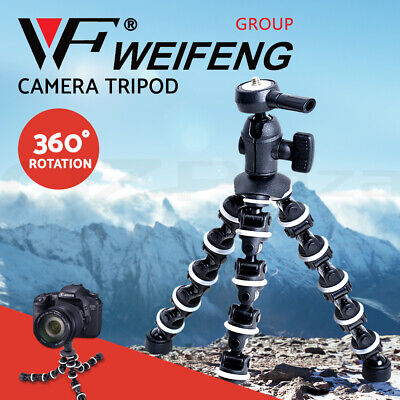 Weifeng Professional Camera Tripod Stand DSLR Ball Head Mount Flexible Universal