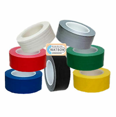 50mm x 50m Gaffa Gaffer Cloth Tape Duck Duct Waterproof Heavy Duty Strong Long