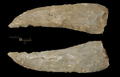 EXTREMELY RARE BRITISH NEOLITHIC STONE AGE FLAKED SICKLE tool Kent 025789