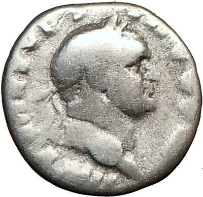 VESPASIAN 71AD Ancient Silver Roman Coin PAX PEACE Goddess Commerce  i21619