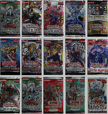 YuGiOh! Booster Neu deutsch Konami  YGO TCG Display Tüten Blister Top NEU OVP 1A