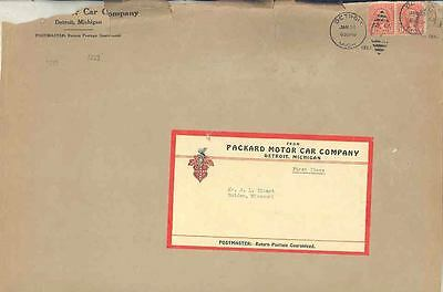 1933 Packard Factory Envelope Piece With Label wp0111 wp111-FICS6Q