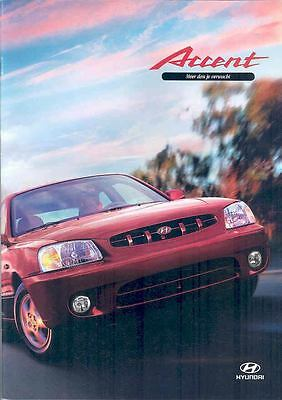 2000 Hyundai Accent Brochure Dutch Korea wp2540-UJ7CRC