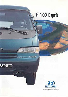 1997 Hyundai H100 Esprit Van Brochure Korea Dutch wp3416-Y7GC3I