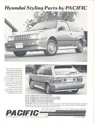 1986 1987 Hyundai Excel Pacific Custom Kit Car Brochure wp498-FWUSY5