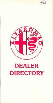 1982 Alfa Romeo US & Canada Dealer List Brochure wp5417-86AWIK