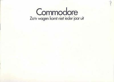 1972 Opel Commodore & GS Brochure Art Fitzpatrick Dutch wp5607-8WQ3H9