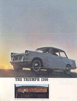 1964 Triumph 1200 Convertible & Coupe Brochure wp5913-D4T64D