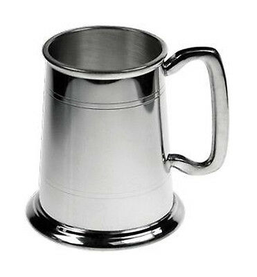 Personalised Engraved 1 Pint British Made Double Lined Pewter Tankard  Free P&P
