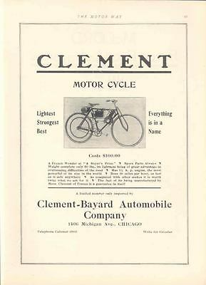 1906 Clement Motorcycle Ad wp629-2AWJBC